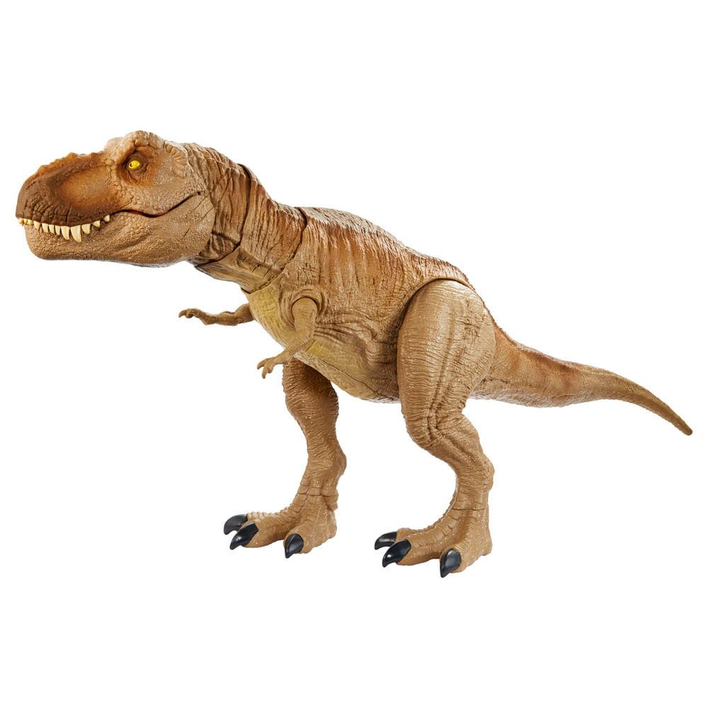 Figura Articulada - 55 Cm - Jurassic World - T-Rex com Sons - Rugido Épico - Mattel