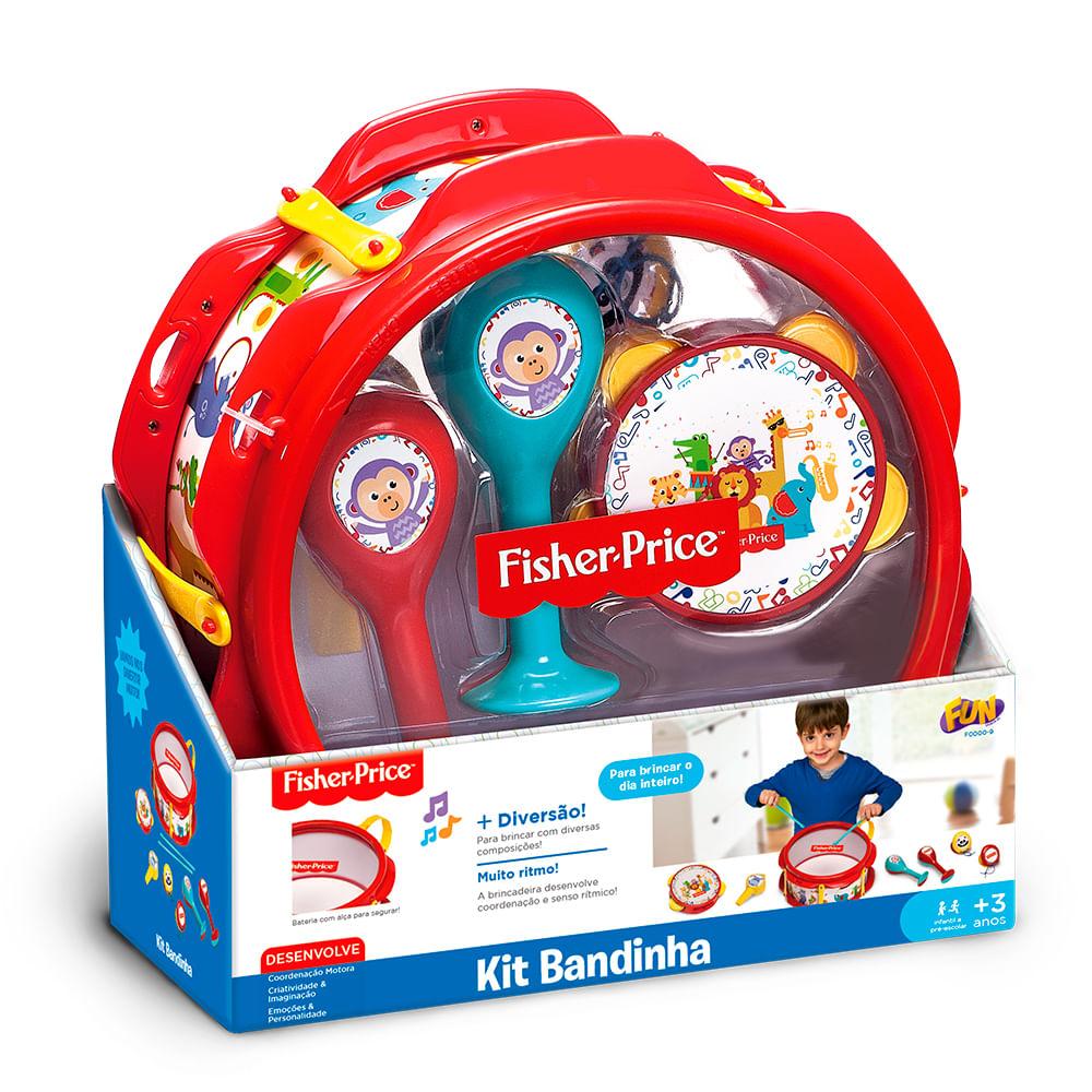 Brinquedo Musical - Conjunto Bandinha - Vermelho - Fisher-Price