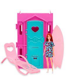 Playset-e-Boneca-Barbie---Surf-Studio-da-Barbie-com-Vestido-Azul---Fun-0