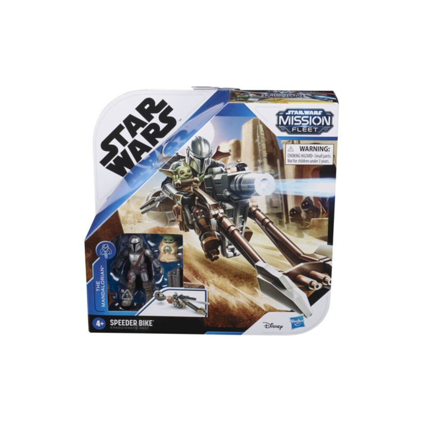 Mini-Figura-Articulada-e-Veiculo---Disney---Star-Wars---Mission-Fleet---Speeder-Bike---Hasbro-1