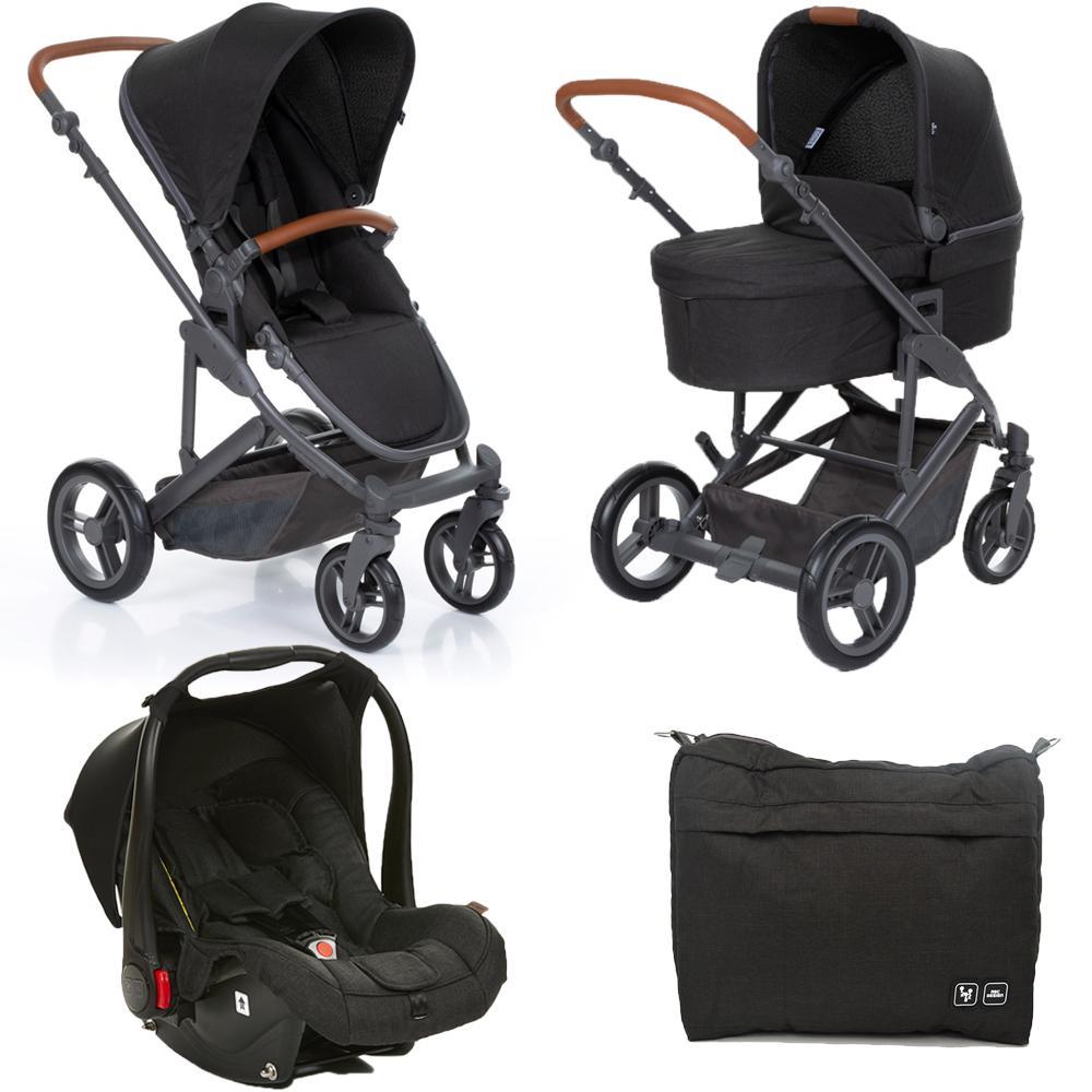 Carrinho de Bebê Travel System ABC Design Como 4 + Moisés Woven Black