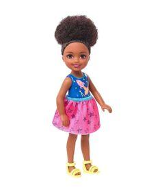 Mini-Boneca---Familia-da-Barbie---Chelsea-Club---Negra---Roupa-Azul-e-Rosa---Mattel_Frente