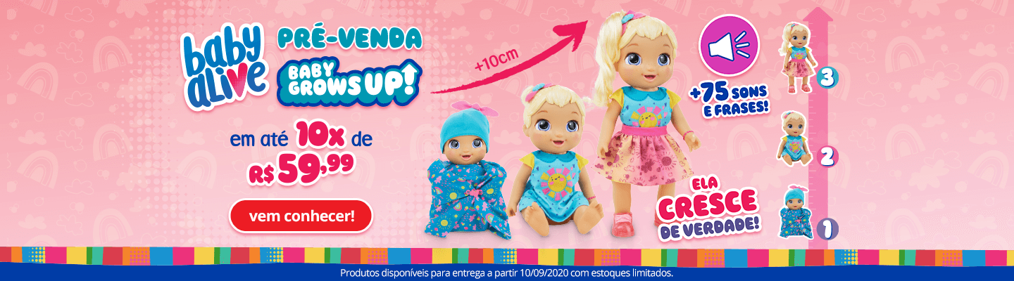 0 - Pré-Venda - Boneca Baby Alive - Grows UP - FullBanner - Desktop - act