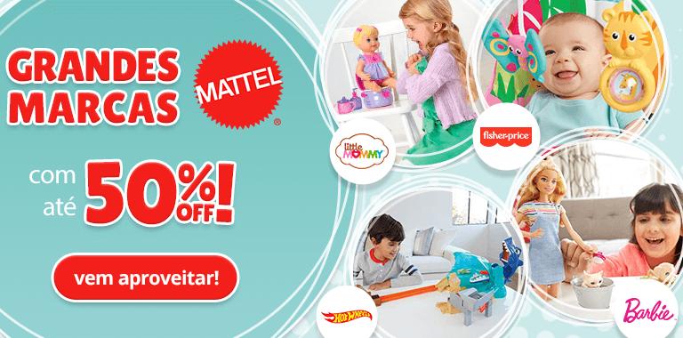1- Grandes Marcas Mattel com até 50% OFF - FullBanner - Mobile - act