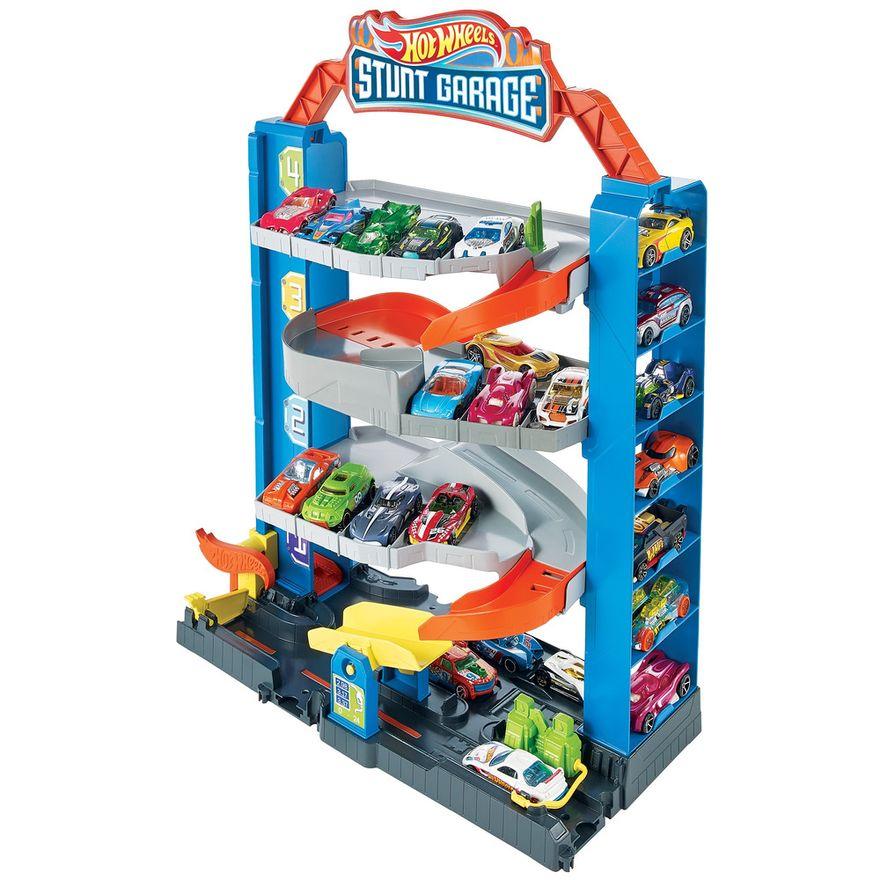 Pista-e-Veiculo---Hot-Wheels---City-Garagem---Mattel-0