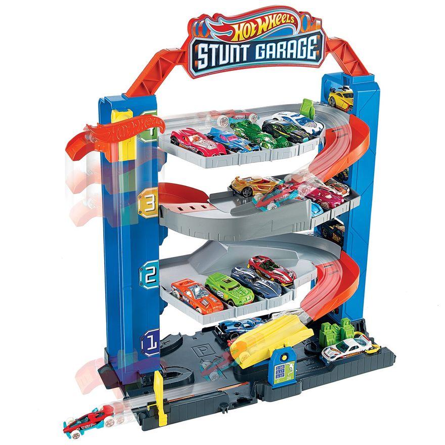 Pista-e-Veiculo---Hot-Wheels---City-Garagem---Mattel-1
