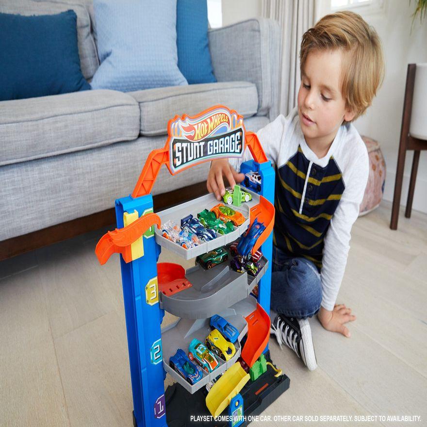 Pista-e-Veiculo---Hot-Wheels---City-Garagem---Mattel-3