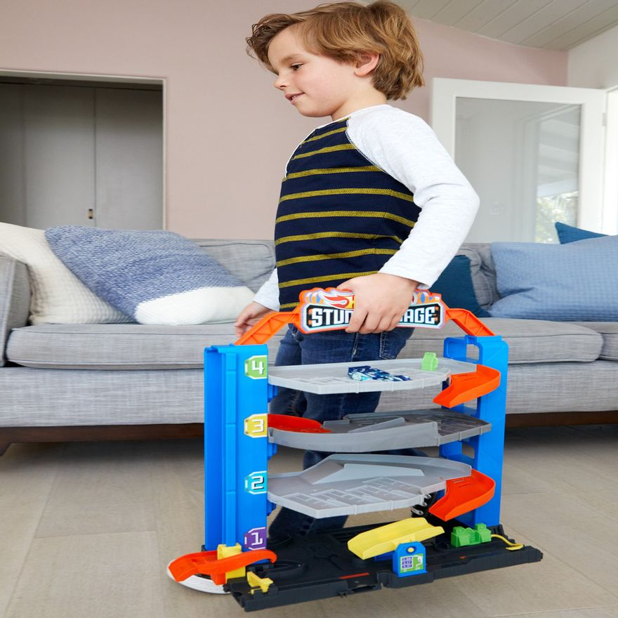 Pista-e-Veiculo---Hot-Wheels---City-Garagem---Mattel-5