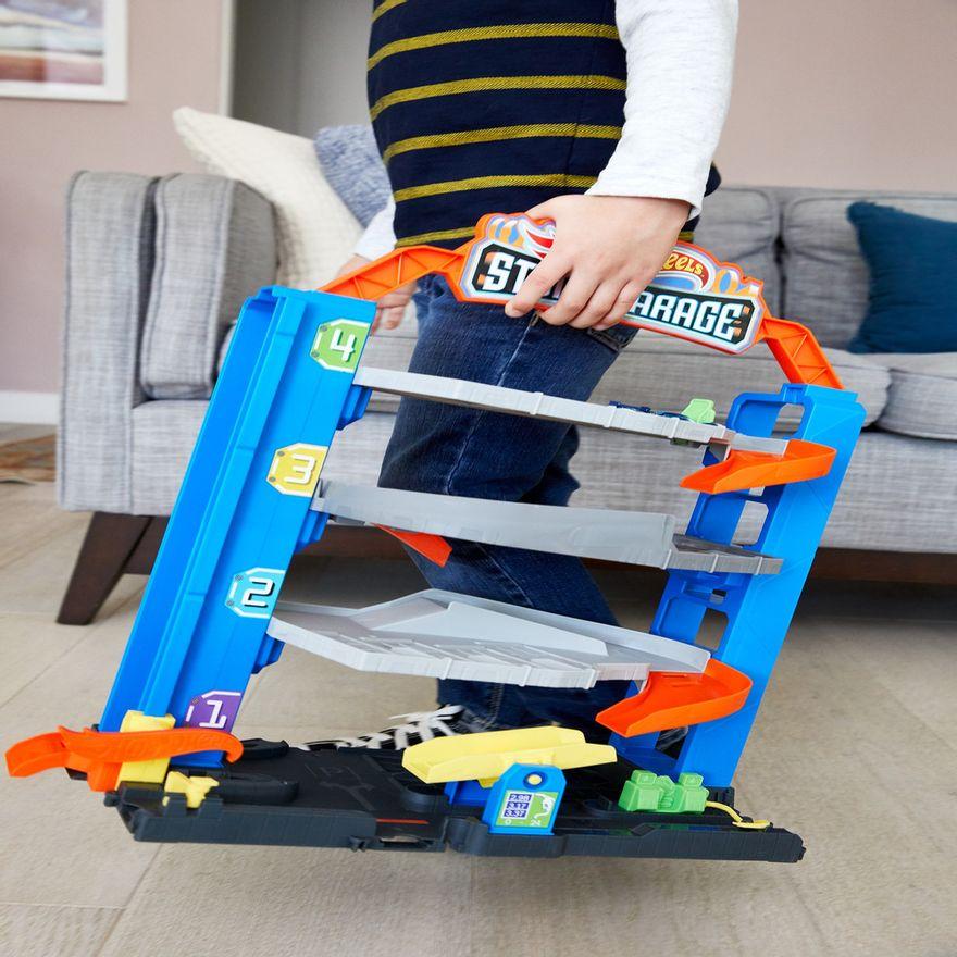 Pista-e-Veiculo---Hot-Wheels---City-Garagem---Mattel-6