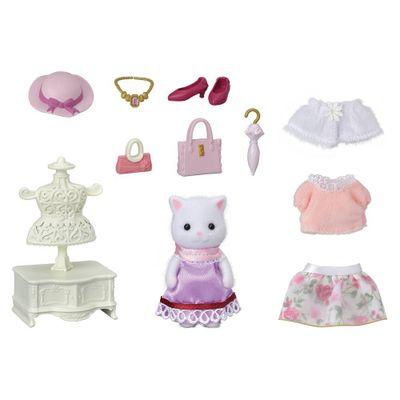 Sylvanian-Families---Fashion-Town-Girl---Gato-Persa---Epoch-0