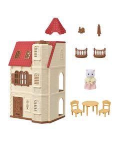 Sylvanian-Families---Casa-com-Torre-e-Telhado---Epoch-0