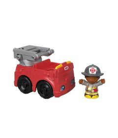 Mini-Figura-e-Veiculo---Little-People---Caminhao-de-Bombeiros---Fisher-Price---Mattel-0