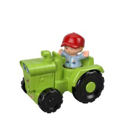 Mini-Figura-e-Veiculo---Little-People---Trator---Fisher-Price---Mattel-0