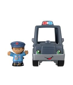 Mini-Figura-e-Veiculo---Little-People---Carro-de-Policia---Fisher-Price---Mattel-0