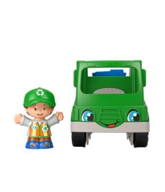 Mini-Figura-e-Veiculo---Little-People---Caminhao-de-Reciclagem---Fisher-Price---Mattel-0