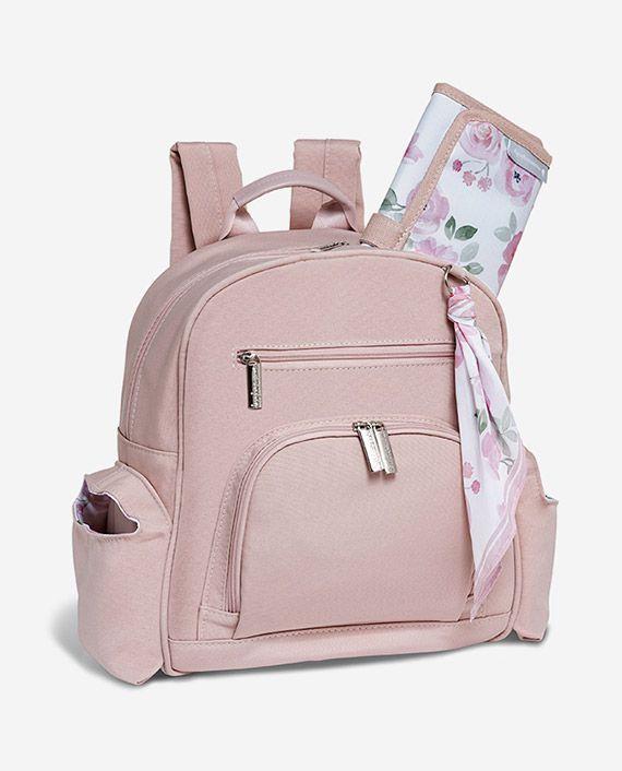 Mochila de maternidade Noah Flora rosa - Masterbag Baby