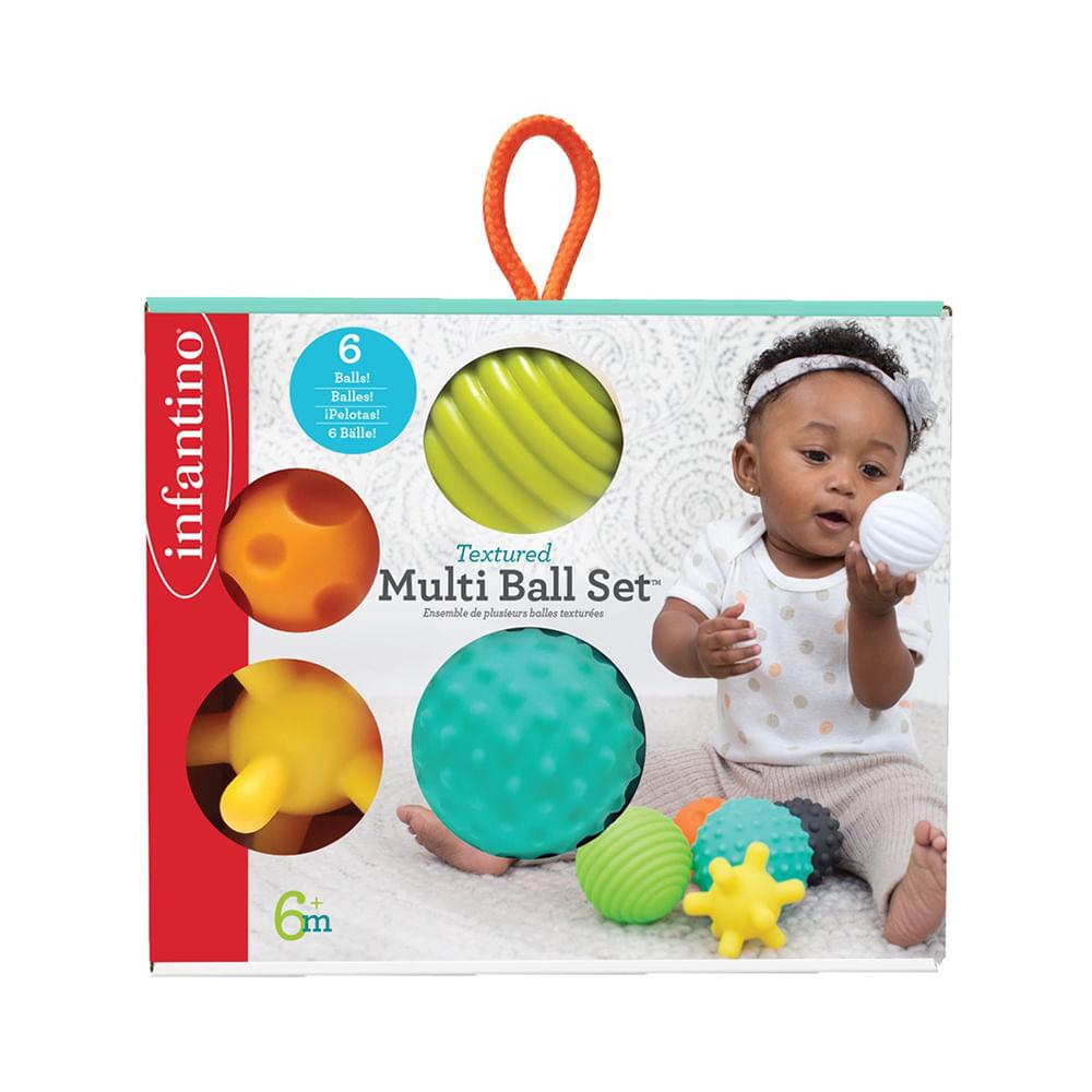 Bola de silicone Infantino texturizada