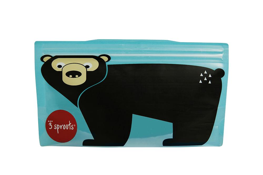 Snack Bag  3 Sprouts Urso Kit Com 2 Unidades