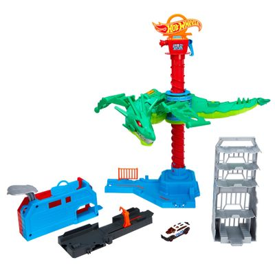 Pista-de-Percurso-e-Veiculo---Hot-Wheels-City---Ataque-Aereo-do-Dragao---Mattel-0