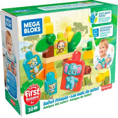 Blocos-de-Encaixe---Mega-Bloks---First-Builders---Amigos-da-Floresta-Sustentavel---Mattel-0