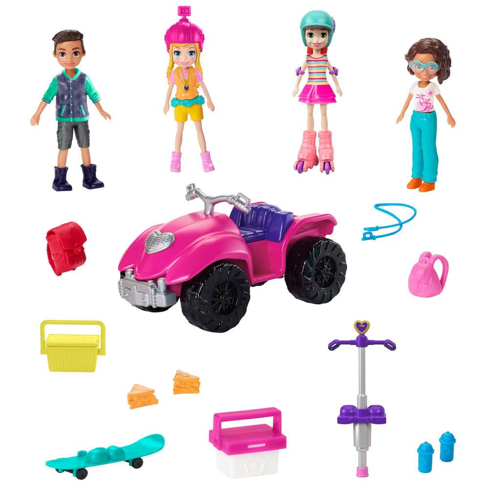 Mini Boneca e Acessórios - Polly Pocket - Pacote de Atividades Esportivas - Mattel