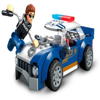 Blocos-de-Encaixe---Mega-Construx---Wonder-Builders---Carro-de-Policia---Mattel-0