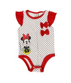 Body-Manga-Curta---Minnie---100-Algodao---Branco---Disney---P