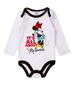 Body-Manga-Longa-Bordado---Minnie---100-Algodao---Branco---Disney---P