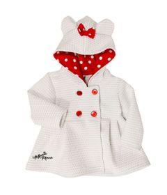 Casaco-Infantil-Matelasse---Minnie---Poliester-e-Elastano---Branco---Disney---P