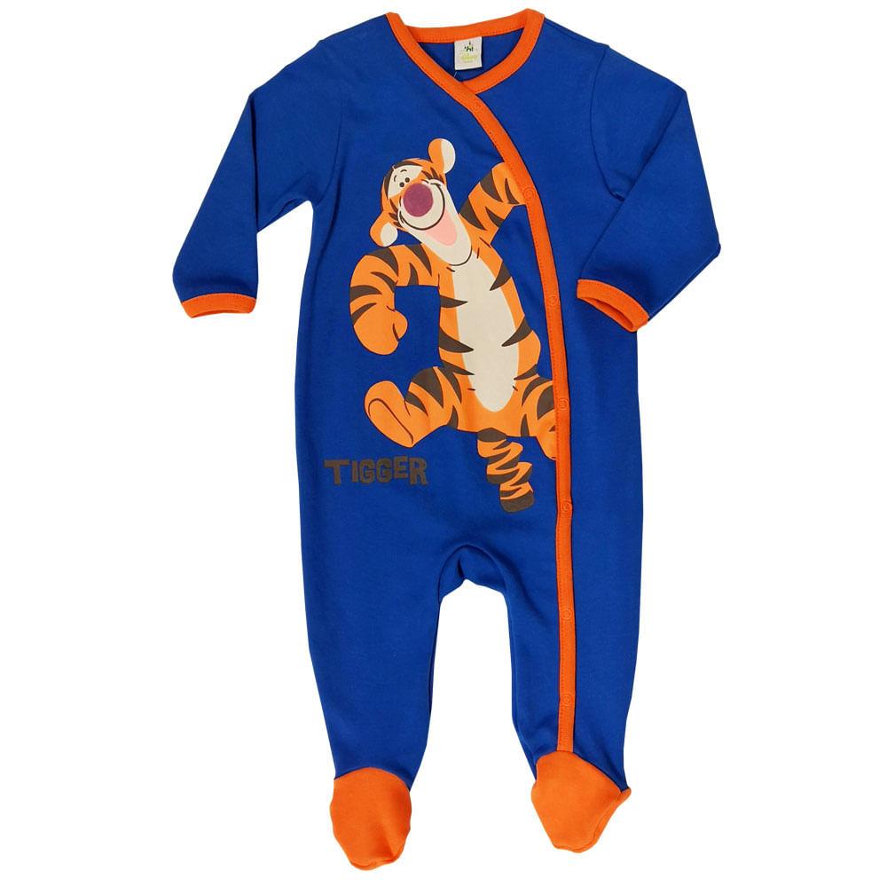 Macacão Infantil - Tigrão - 100% Algodão - Azul - Disney
