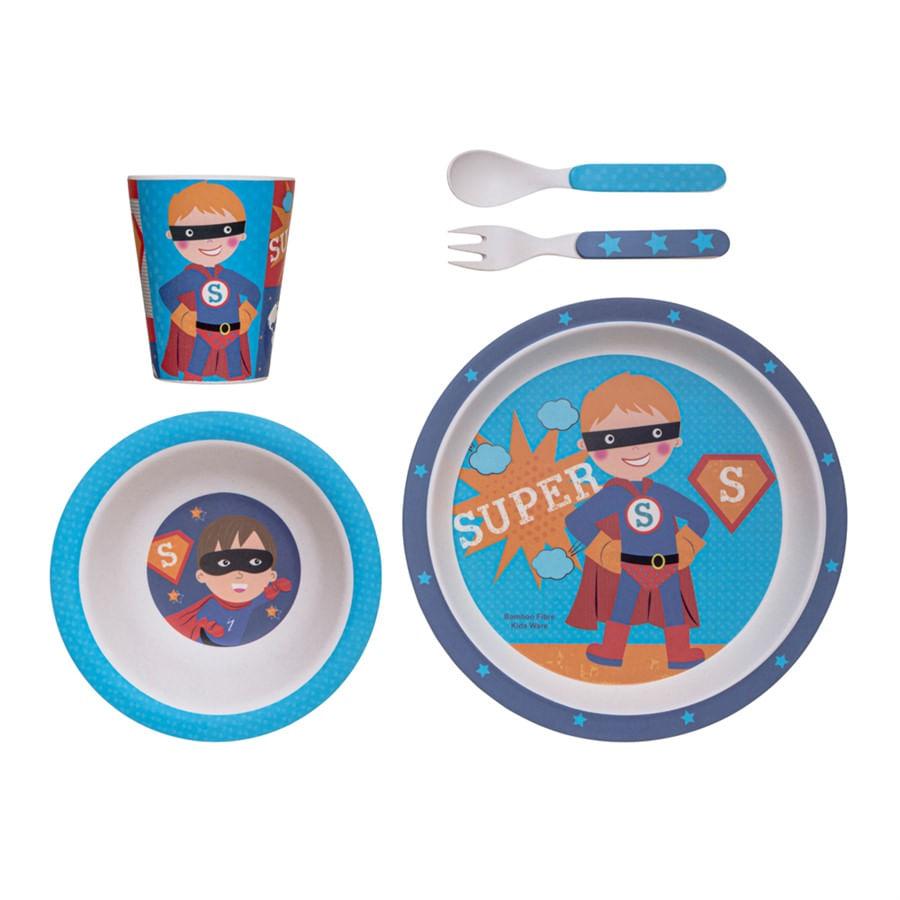 Kit Alimentação Super Herói Eco Girotondo Baby - 5 unidades