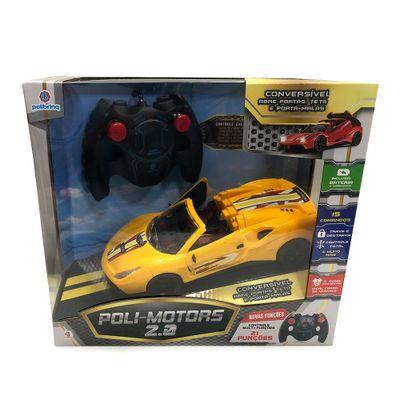 Veiculo de Controle Remoto Carro Polimotors 1.16 21 Comandos Polimotors Amarelo Polibrinq