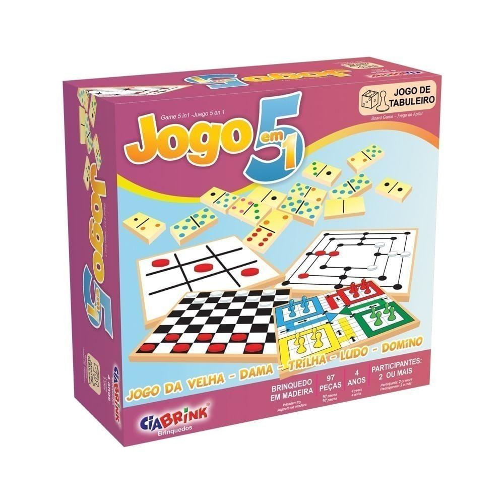 Jogo 5 em 1 em  Caixa Cartonada Ciabrink