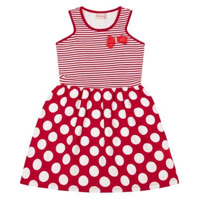 Novo-Vestido-Infantil---Top-Listrado---Algodao-e-Elastano---Vermelho---Duduka---4