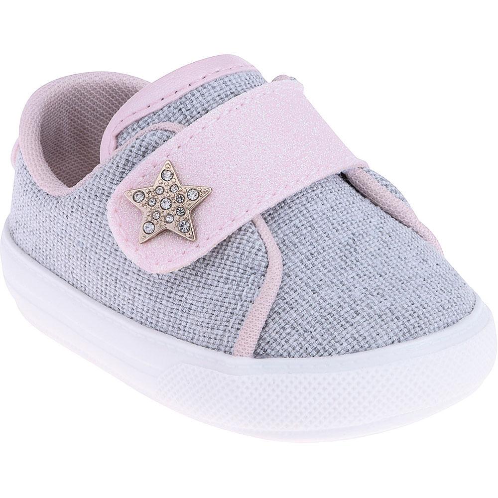 Tênis Infantil - Baby Meninas - Estrela com Velcro - Pimpolho
