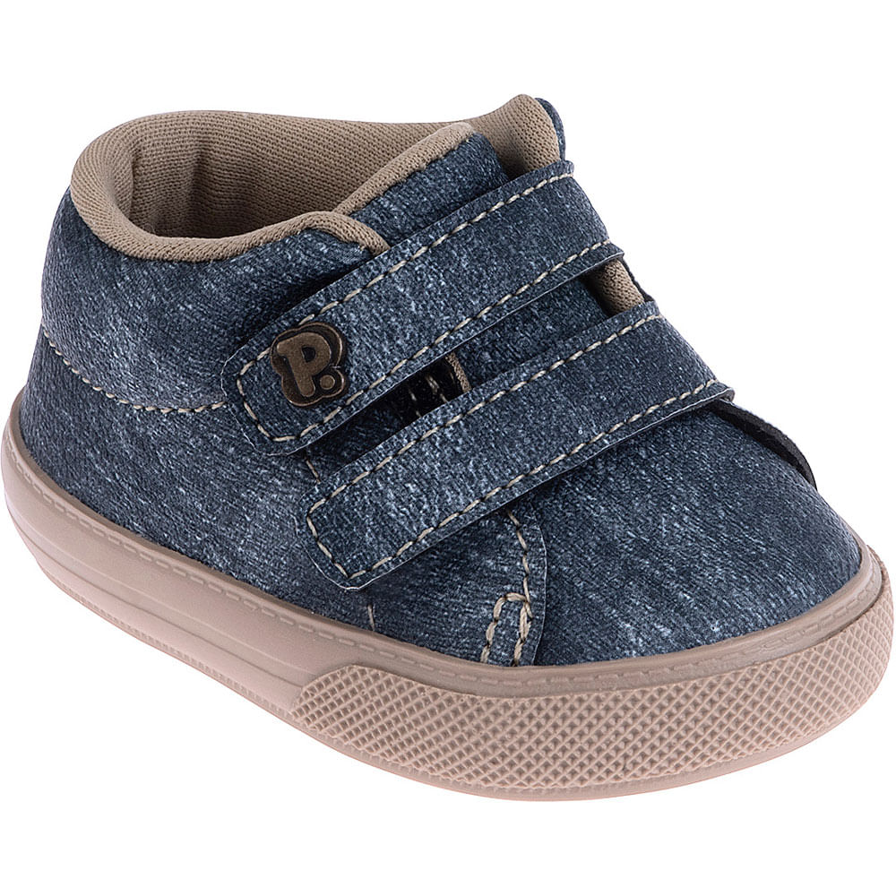 Tênis Infantil - Baby Meninos - Jeans Azul - Pimpolho
