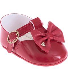 Sapatilha-Infantil---Baby-Meninas---Vermelha-com-Laco---Pimpolho---1