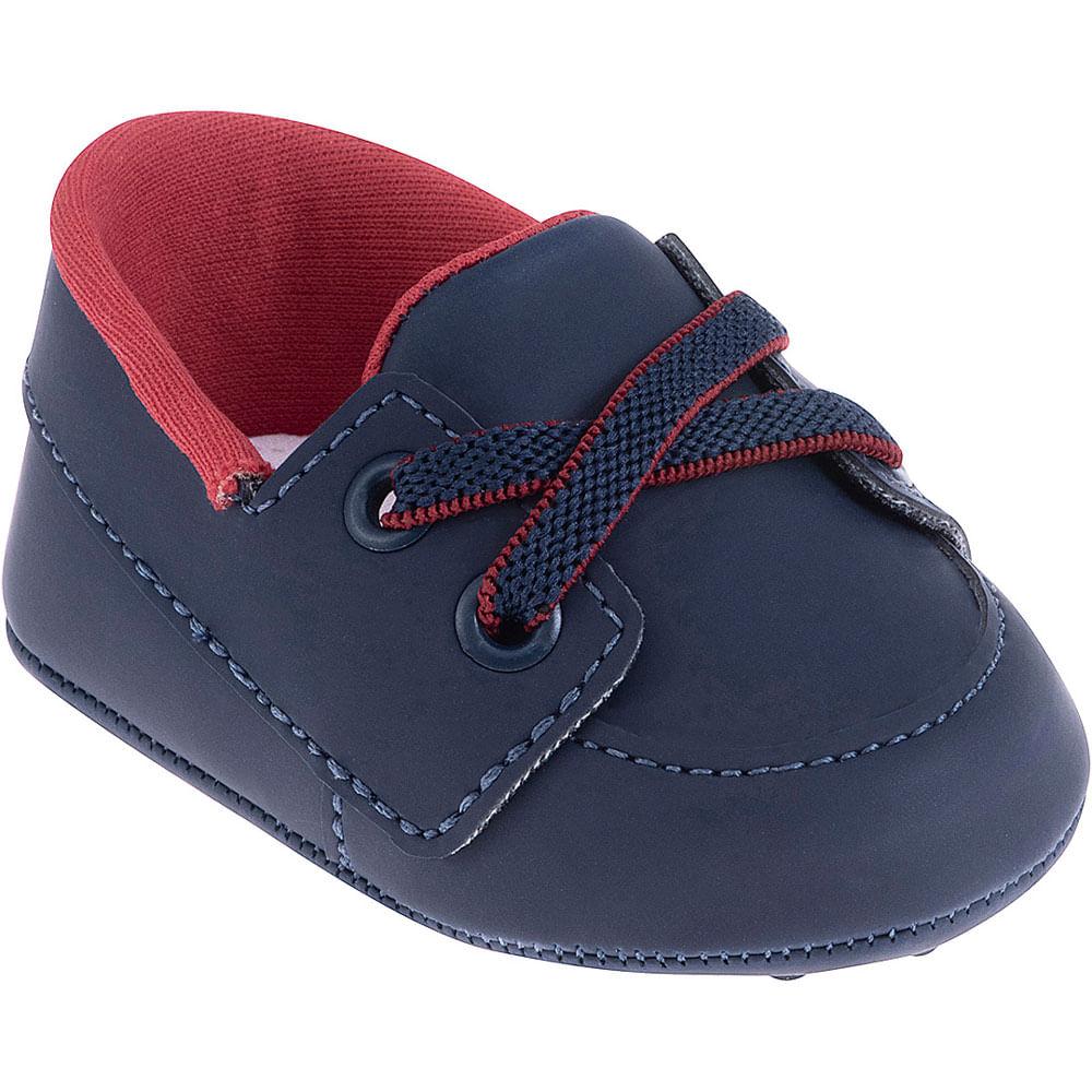 Sapatinho Infantil - Baby Classic - Azul e Vermelho - Pimpolho