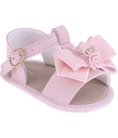 Sandalia-Infantil---Baby-Meninas---Rosa-com-Laco---Pimpolho---1