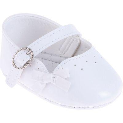 Sapatilha-Infantil---Baby-Meninas---Branco-com-Fivela-e-Laco---Pimpolho---1