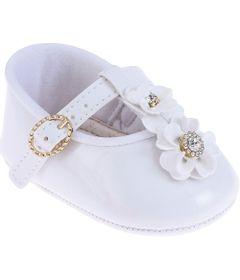 Sapatilha-Infantil---Baby-Meninas---Branco-com-Fivela-e-Flor---Pimpolho---1
