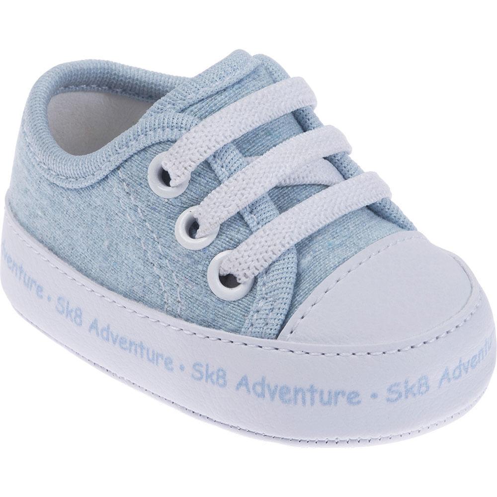 Tênis Infantil - Baby Meninos - SK8 Adventure - Azul - Pimpolho