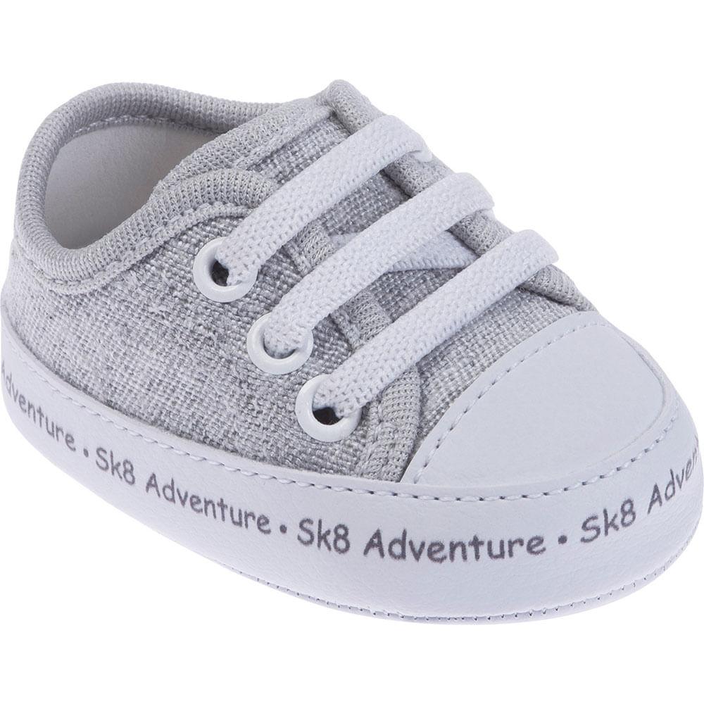 Tênis Infantil - Baby Meninos - SK8 Adventure - Cinza - Pimpolho