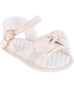 Sandalia-Infantil---Baby-Meninas---Rosa-com-Fivela-e-Laco---Pimpolho---1