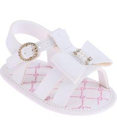 Sandalia-Infantil---Baby-Meninas---Branca-com-Fivela-e-Laco---Pimpolho---1