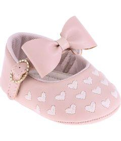 Sapatilha-Infantil---Baby-Meninas---Rosa-com-Laco-e-Coracoes---Pimpolho---2