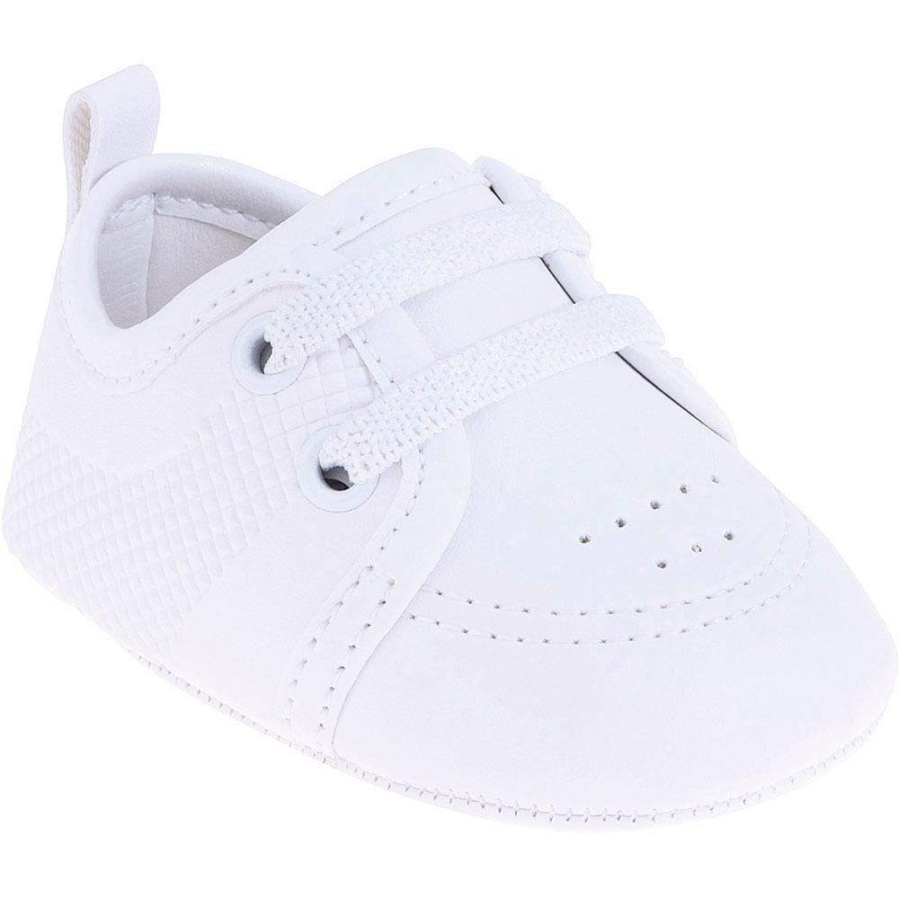 Sapatinho Infantil - Baby Classic - Branco Liso - Pimpolho