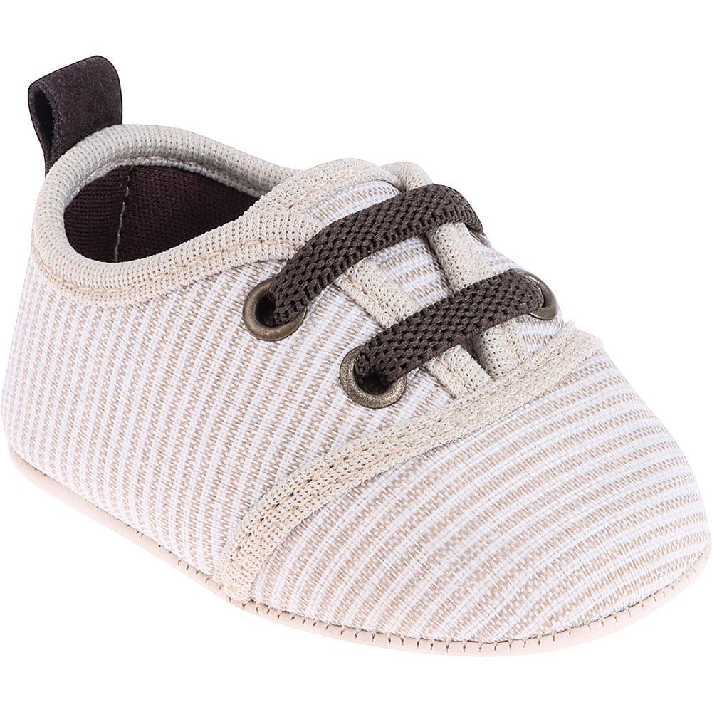 Sapatinho Infantil - Baby Meninas - Listras Rodas e Brancas - Pimpolho