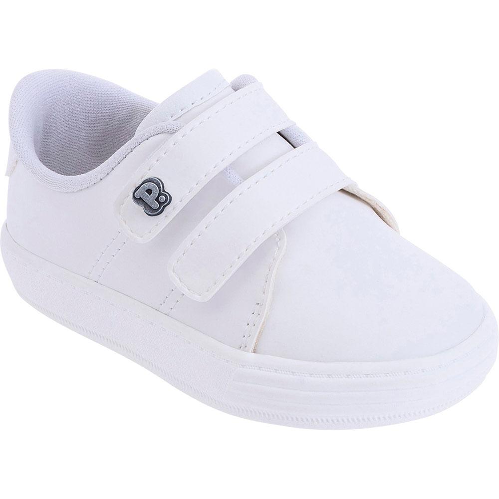 Tênis Infantil - Baby Classic - Branco Liso - Pimpolho