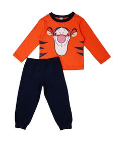 Conjunto-Infantil---Camisa-Manga-Longa-e-Calca---100--Algodao---Tigrao---Laranja---Disney---1